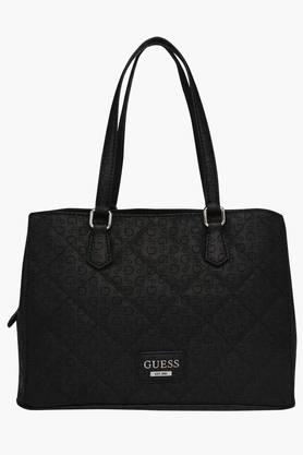 GUESS Womens Globes Snap & Zipper Closure Shoulder Bag