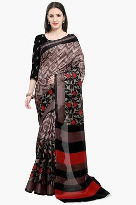 Women Bhagalpuri Art Silk Floral Printed Saree