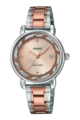 CASIO Womens Analogue Round Dial Watch-A1044