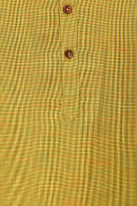 Mens Mandarin Collar Slub Kurta and Pyjamas Set