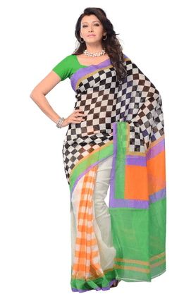 DEMARCA De Marca Multicolor Cotton Designer DF-289B Saree