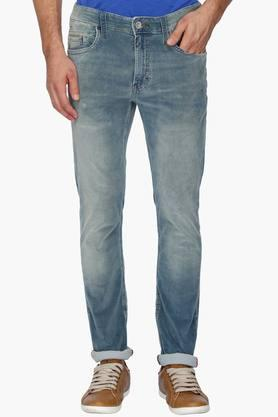 IZOD Mens Slim Fit Mild Wash Jeans