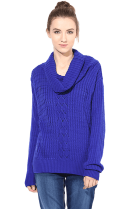 THE VANCA Women Wool Acrylic Cardigan - 200344449