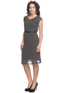 Grey Knee Length Formal Dresses for Women