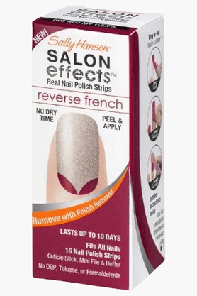SALLY HANSEN Salon Effects Real Nail Polish Strips-Red My Tulips #003