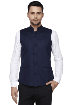 Mens Linen Rich Nehru Jacket