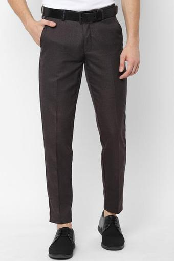 C372 -  Chocolate Casual Trousers - Main