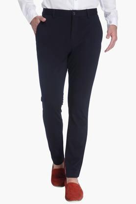 JACK AND JONESMens Regular Fit 4 Pocket Solid Trousers