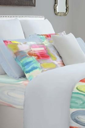 SPACES Epica Turquoise Blue 400 TC Cotton Double Bedding Set With 2 Pillow Covers And Sham Covers  ...