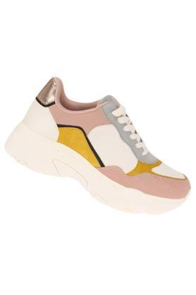 Womens Mesh Lace Up Sneakers