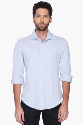 Formal Shirts (Men's) - Mens Slim Fit Solid Shirt