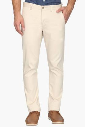 BLACKBERRYSMens 4 Pocket Regular Fit Solid Trousers