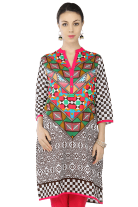 STOP Women Cotton Printed Kurta