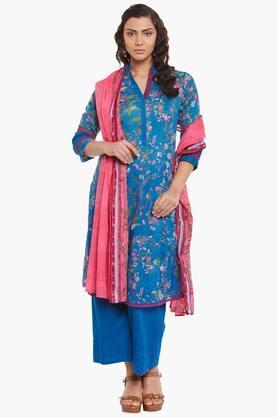 BIBAWomens Cotton Kalidar Suit Set