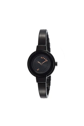 Womens Black Dial Metallic Analogue Watch - Nk6113NM01