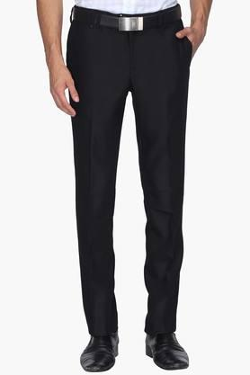 BLACKBERRYS Mens Slim Fit 4 Pocket Solid Formal Trousers