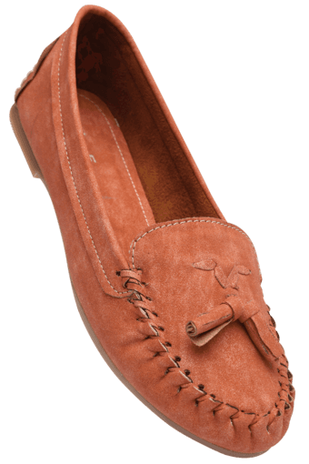 Womens Orange Casual Slipon Ballerina Shoe