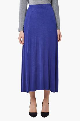 ANDWomens Flared Maxi Skirt