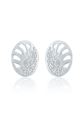 MAHI Mahi Rhodium Plated Shimmering Paisley Earrings With CZ For Women ER1109129R