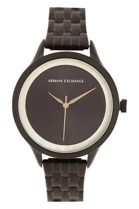 Womens Black Dial Metallic Analogue Watch - AX5610I