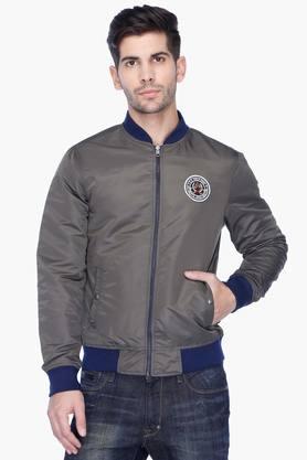 U.S. POLO ASSN. DENIMMens Regular Fit Solid Reversible Jacket