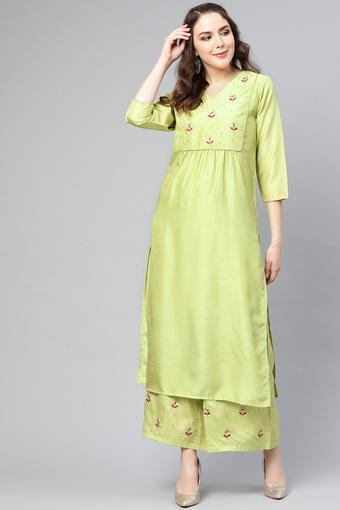 VARANGA -  Lime Green Ethnic Sets - Main