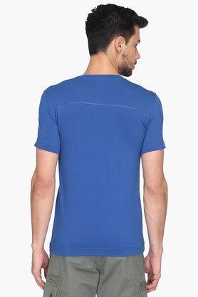 Mens V Neck Solid T-Shirt
