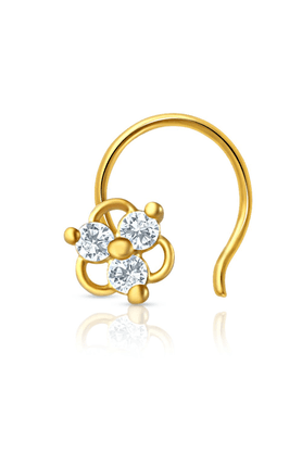 MAHIMahi Gold Plated Darling Nosepin With CZ For Women NR1100132G