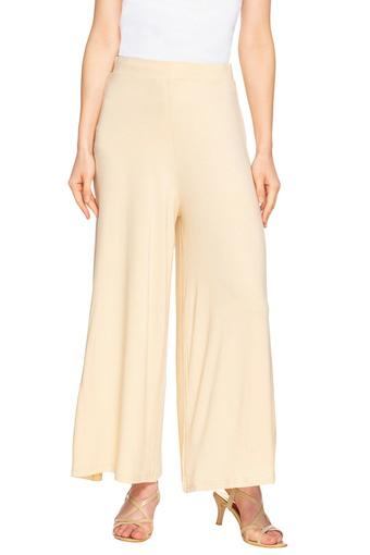 GO COLORS -  Cream Palazzos & Jumpsuits - Main