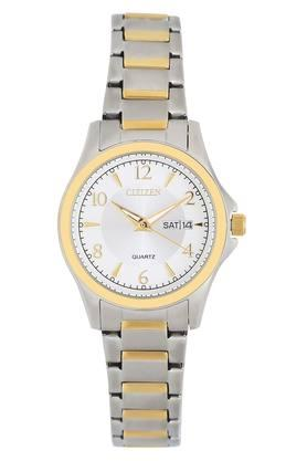 Womens White Dial Metallic Analogue Watch - EQ0595-55A
