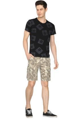Mens 6 Pocket Camouflage Shorts