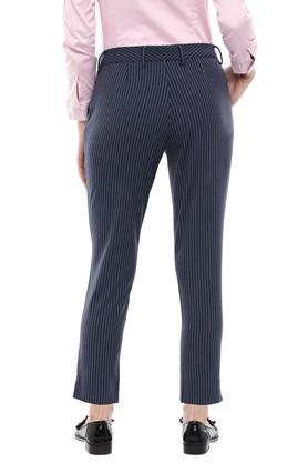 Womens 2 Pocket Striped Trousers