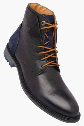 ALBERTO TORRESI Mens Leather Lace Up Boots