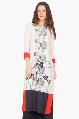 DESI BELLE Womens Printed Round Neck Kurta - 201829102