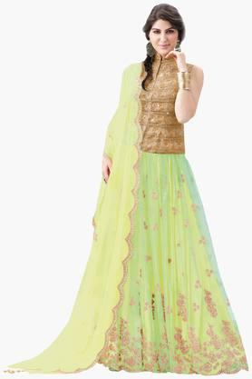MAHOTSAV Womens Embellished Semi-stitched Lehenga Choli - 201643995