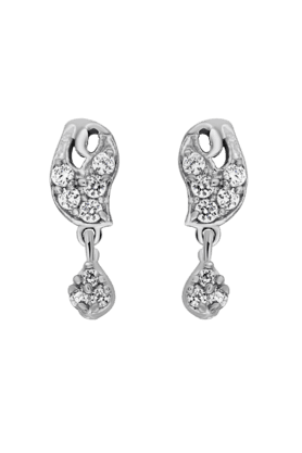 MAHI Mahi Rhodium Plated Silver Delight Earrings Made With CZ Stones For Women ER1108561R