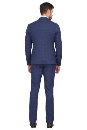 Mens Notched Lapel Checked 2 Piece Suit