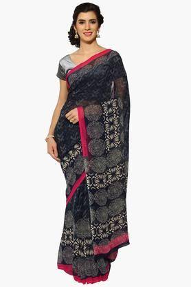 Women Abstract Print Georgette Saree - 202343088
