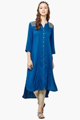 GLOBAL DESI Womens Button Down Kurta - 201900402