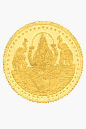 999 Purity 1 Gm Laxmi Gold Coin MGLX999P1G (Free 1 Gm Silver Coin)