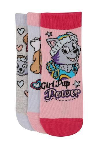 Girls Paw Patrol Print Socks - Pack of 3