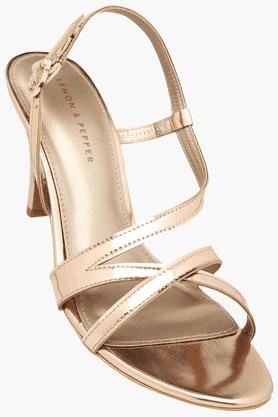 LEMON & PEPPERWomens Party Wear Ankle Buckle Closure Heel Sandal - 201202158