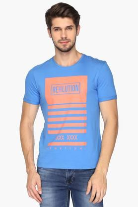 UNITED COLORS OF BENETTONMens Round Neck Printed T-Shirt - 201942102