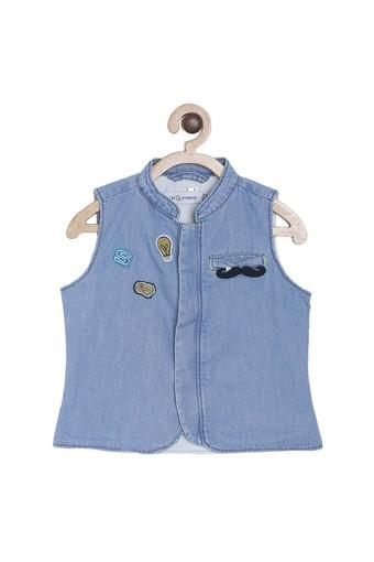TALES & STORIES -  Light Blue Nehru Jackets - Main