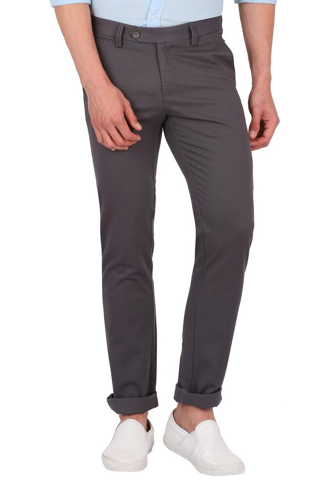 ALLEN SOLLY - Black Casual Trousers - Main