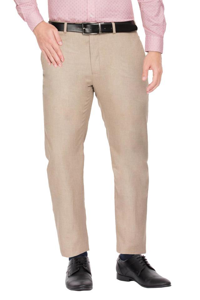 RAYMOND - FawnFormal Trousers - Main
