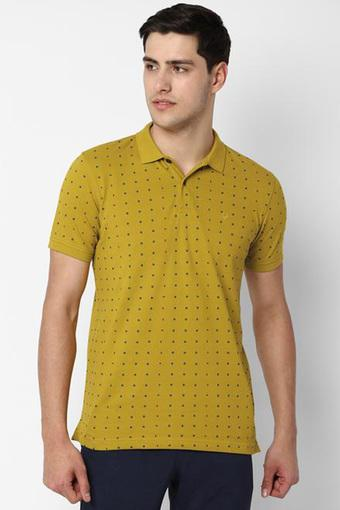 ALLEN SOLLY -  Yellow T-Shirts & Polos - Main