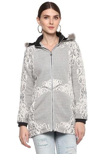 Womens Hooded Printed Jacket