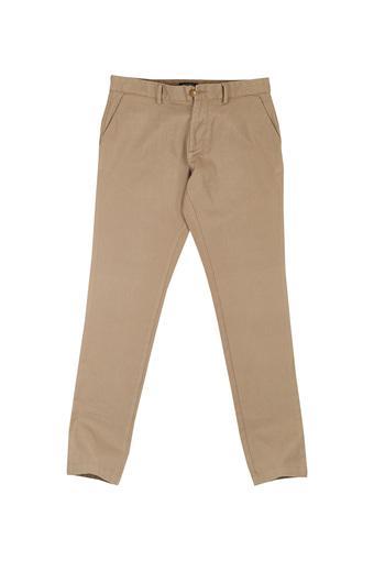 INDIAN TERRAIN -  EcruCasual Trousers - Main