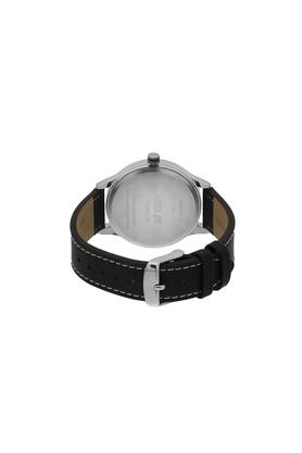 Mens White Dial Leather Multi-Function Watch - TW003HG09